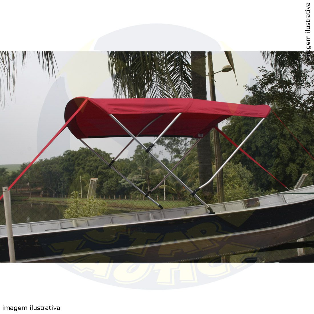 Capota Toldo Barco Tupi 600 Vinílica 3 Arcos Tubo 7/8