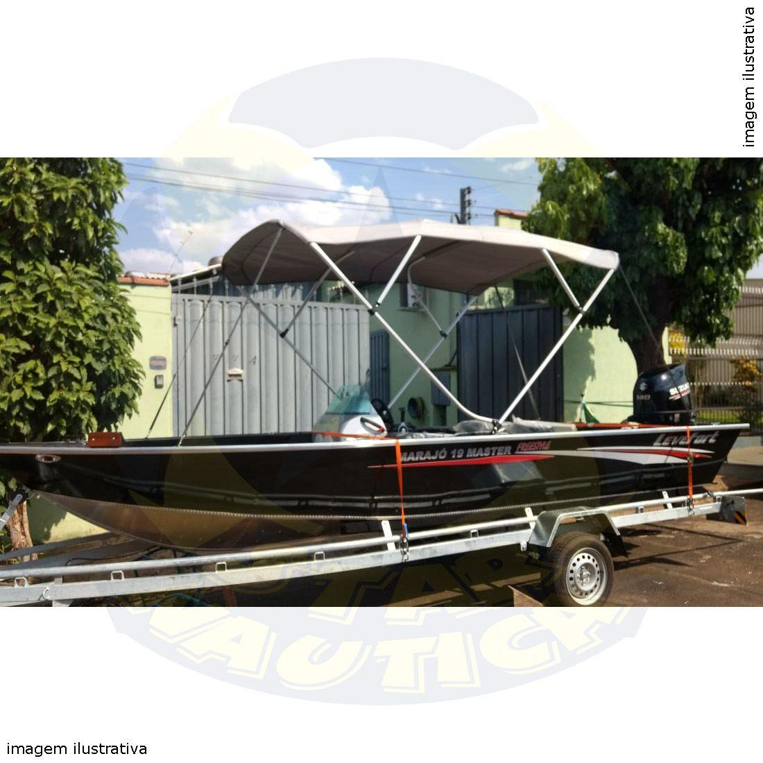 Capota Toldo Lancha Big Fish 5014 Sport Poliéster 4 Arcos Tubo 1 1/4