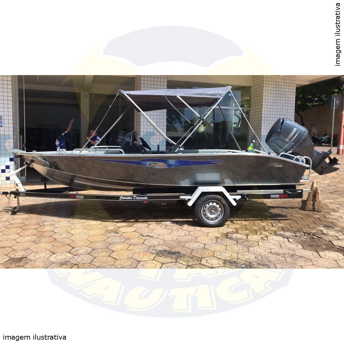 Capota Toldo Lancha Big Fish 5514 Flex Vinílica 3 Arcos Tubo 7/8