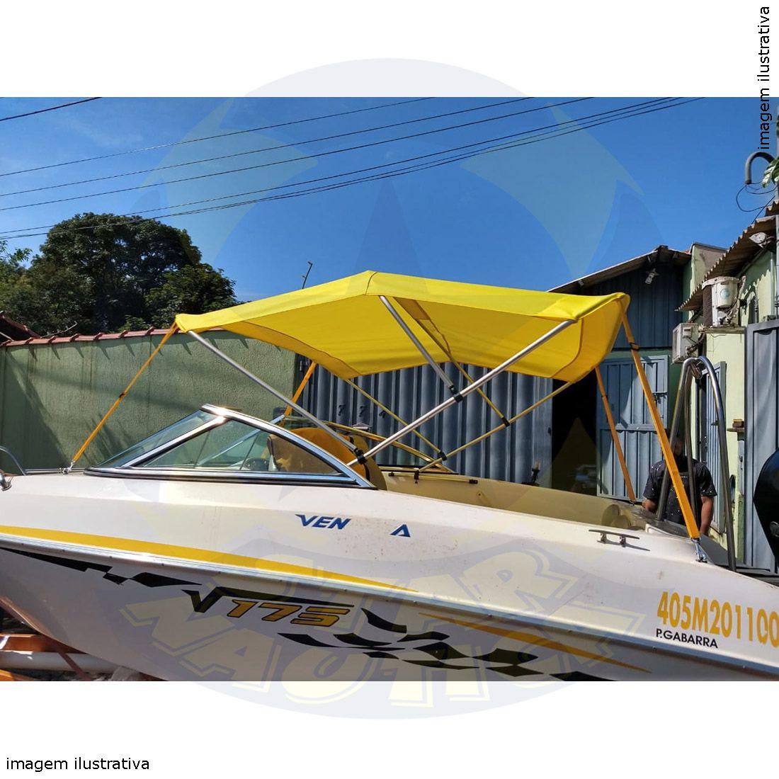 Capota Toldo Lancha Focker 160 Poliéster 3 Arcos Tubo 1 1/4