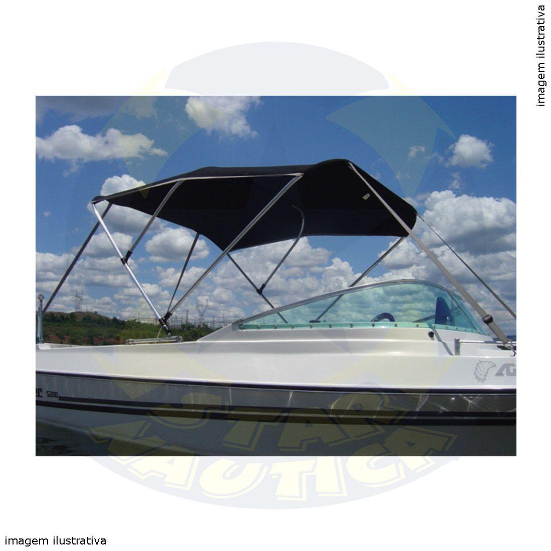Capota Toldo Lancha Focker 190 Acrílica 3 Arcos Tubo 7/8