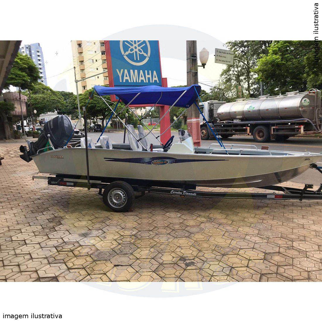 Capota Toldo Lancha Marfim 6.0 Freestyle Vinílica 3 Arcos Tubo 7/8