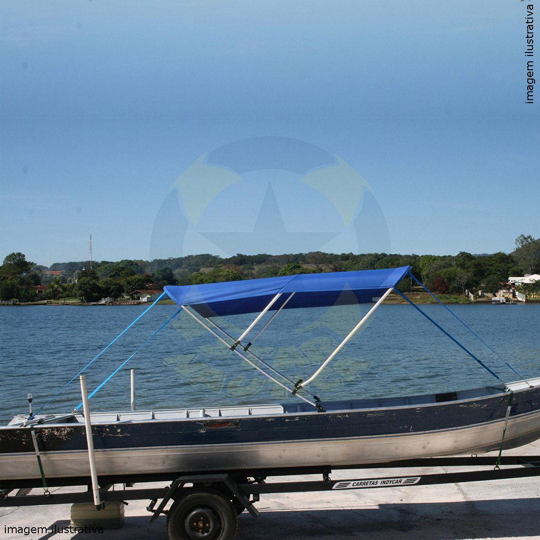 Capota Toldo Barco Marfim 600 Poliéster 3 Arcos Tubo 1 1/4