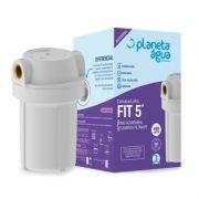 """Carcaça FIT 5"""" Azul Rosca Metálica 1/2"""" para Filtros de Água - Planeta Água"""