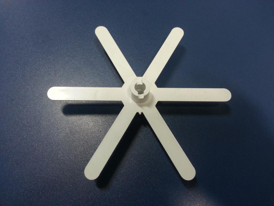 Aleta Plástica branca para Maquina de Gelo Everest