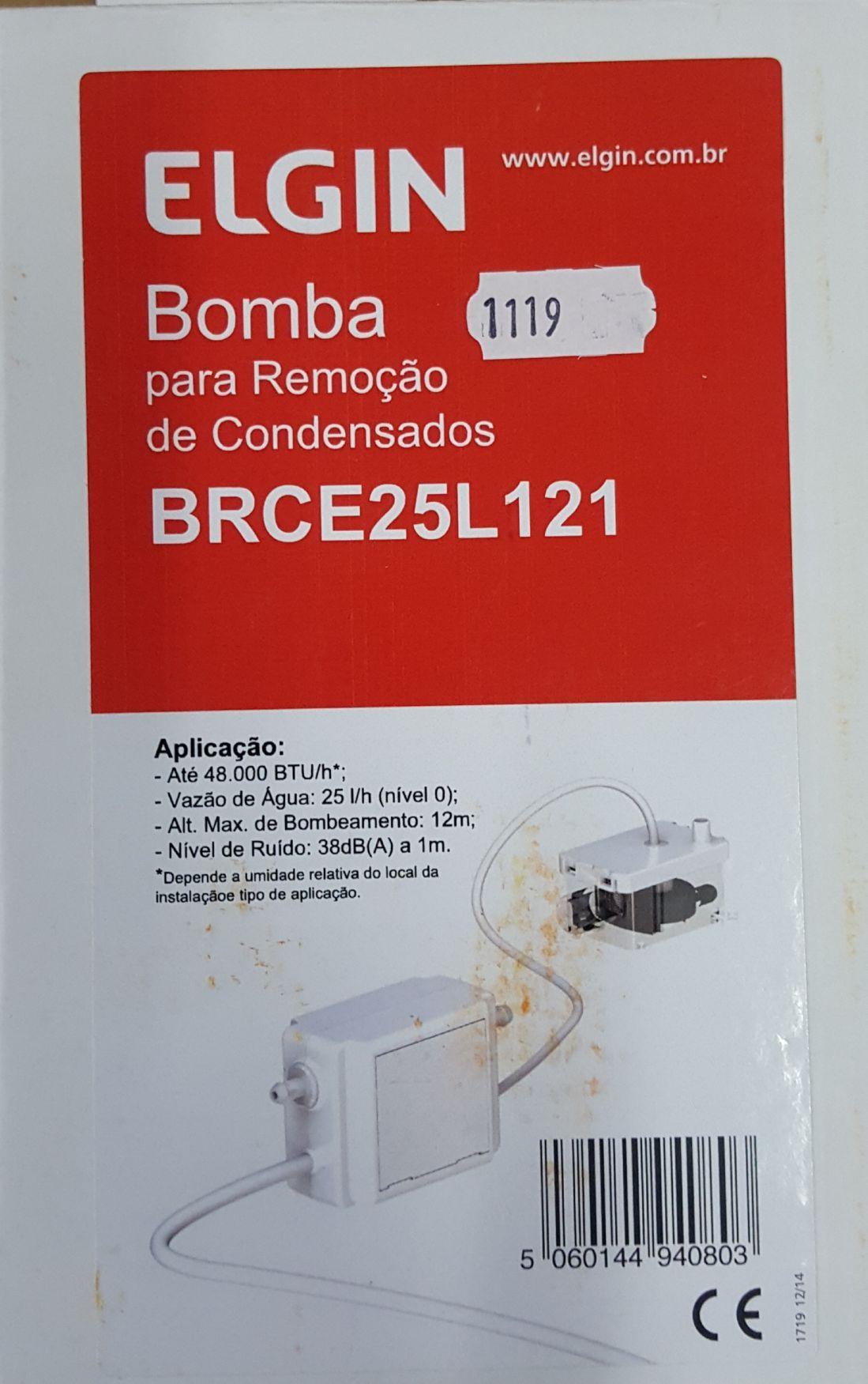 BOMBA PARA REMOÇÃO DE CONDENSADOS 25 l/h - ELGIN - BRCE25L121