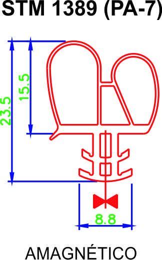 Borracha de Freezer Electrolux H500 - Encaixe na Tampa ** CONFIRA AS MEDIDAS **