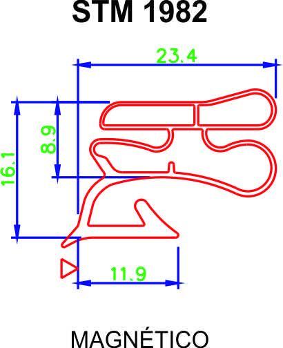 Borracha de Geladeira CCE 310-320L DAKO 310-320-340L Inferior (1 Porta) + Cola ** CONFIRA AS MEDIDAS **