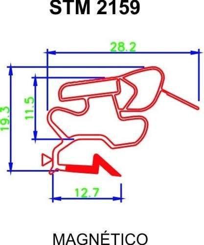 Borracha de Geladeira Electrolux - Medida Inferior: 68 x 1,16 cm - Modelos: DC38 - DF36 - DF37 + Cola ** CONFIRA AS MEDIDAS **