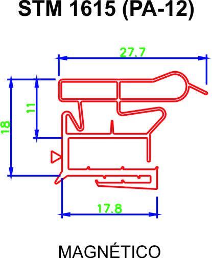 Borracha para Geladeira Eletrolux - DC360 - Med. Inf. 57 x 1,16 + Cola ** CONFIRA AS MEDIDAS **