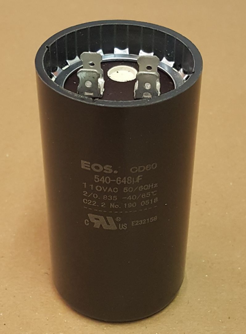 CAPACITOR 540-648UF 110V 1.5HP