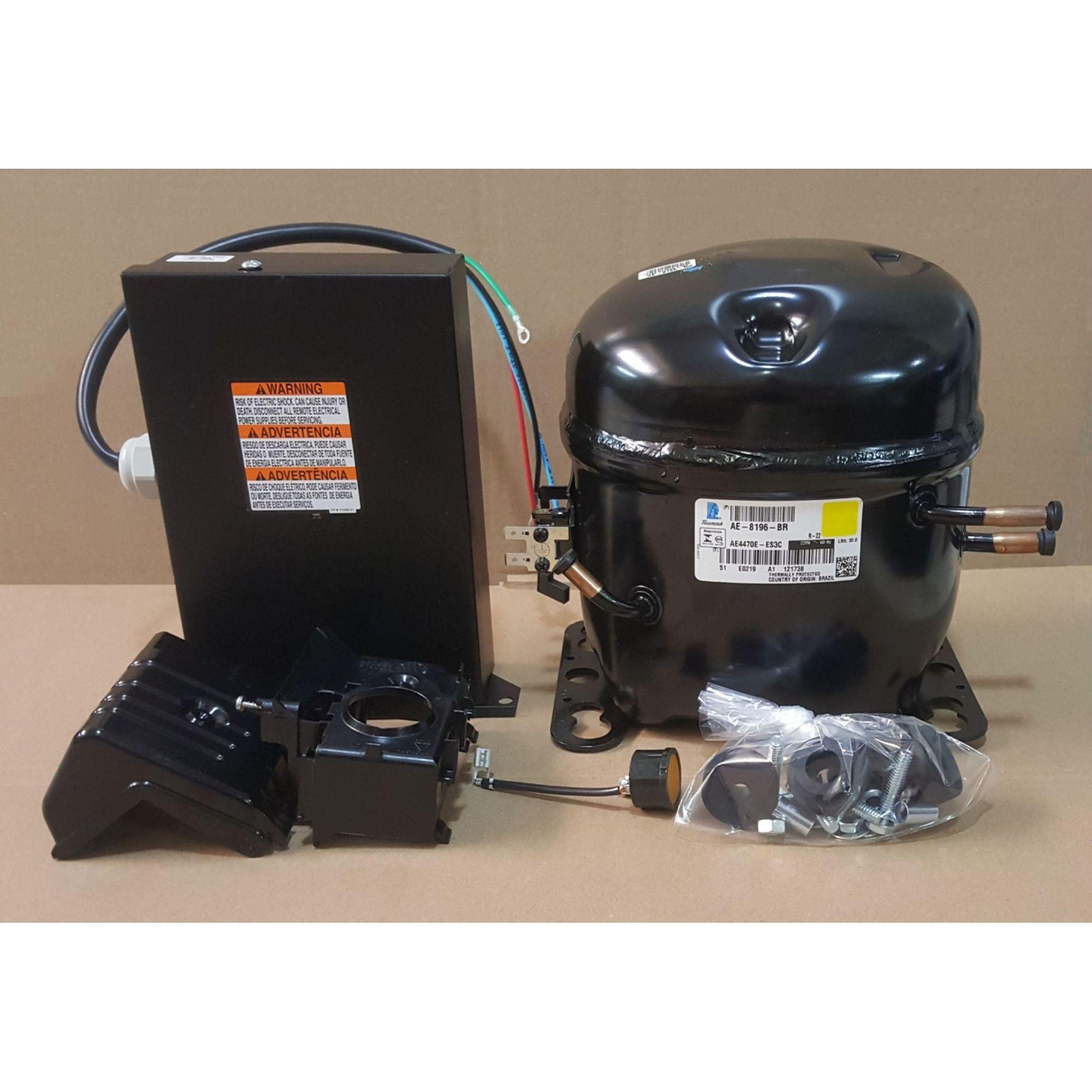 Motor Compressor 3/4 HP - AE4470E AE8196BR - 220V - R22 - 60 HZ - Tecumseh