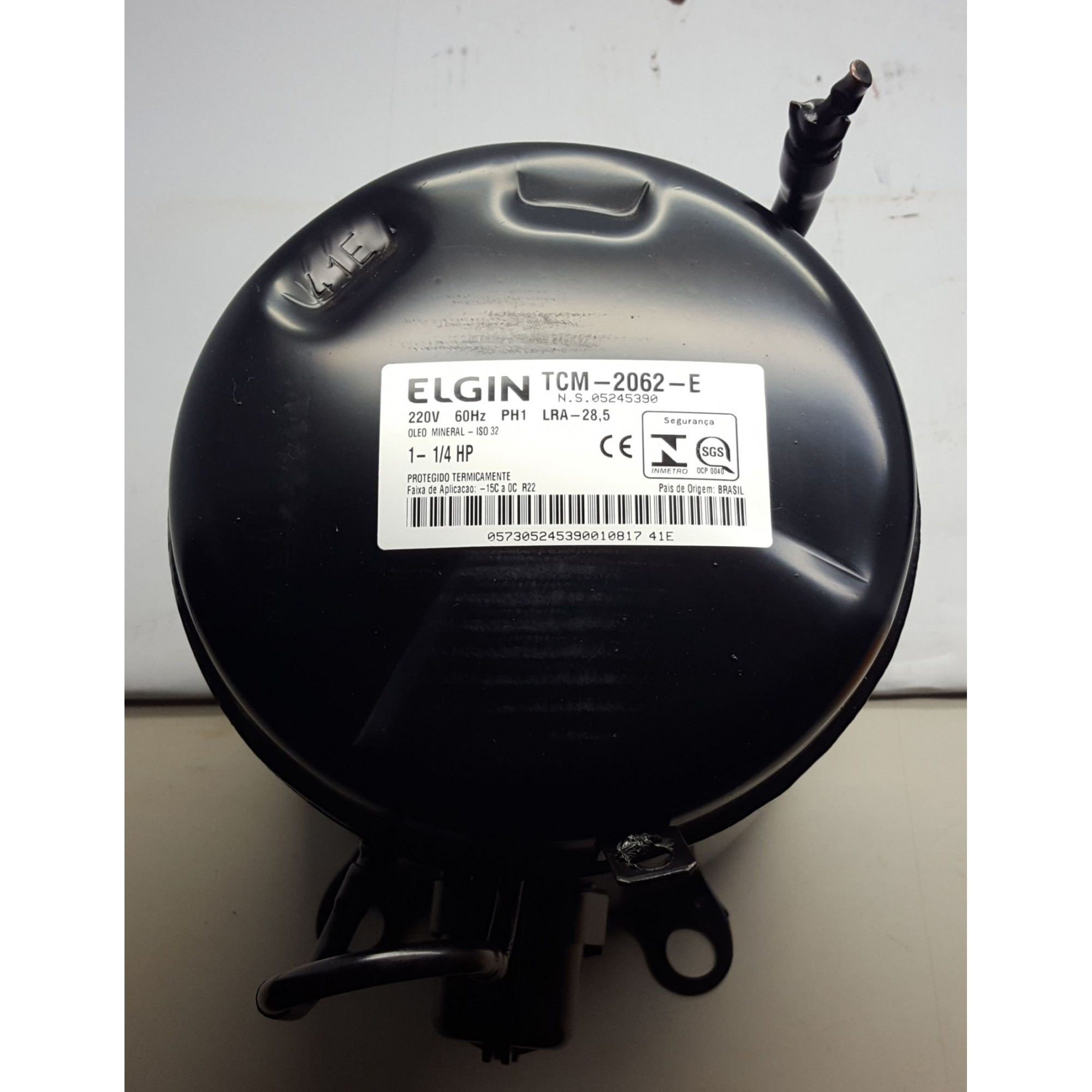 COMPRESSOR ELGIN 1 1/4 HP - TCM-2062-E - R22 (220v)