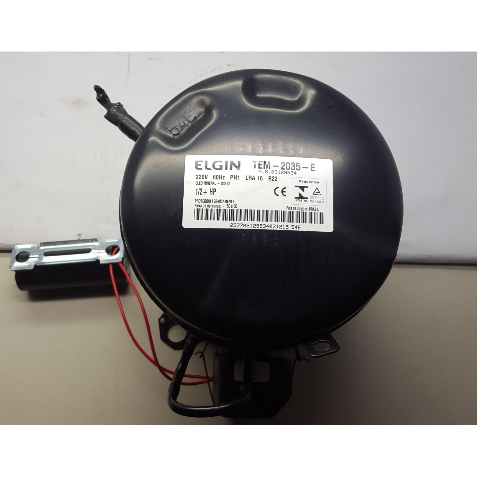 COMPRESSOR ELGIN 1/2+ HP - TEM-2035-E - R22 (220v)