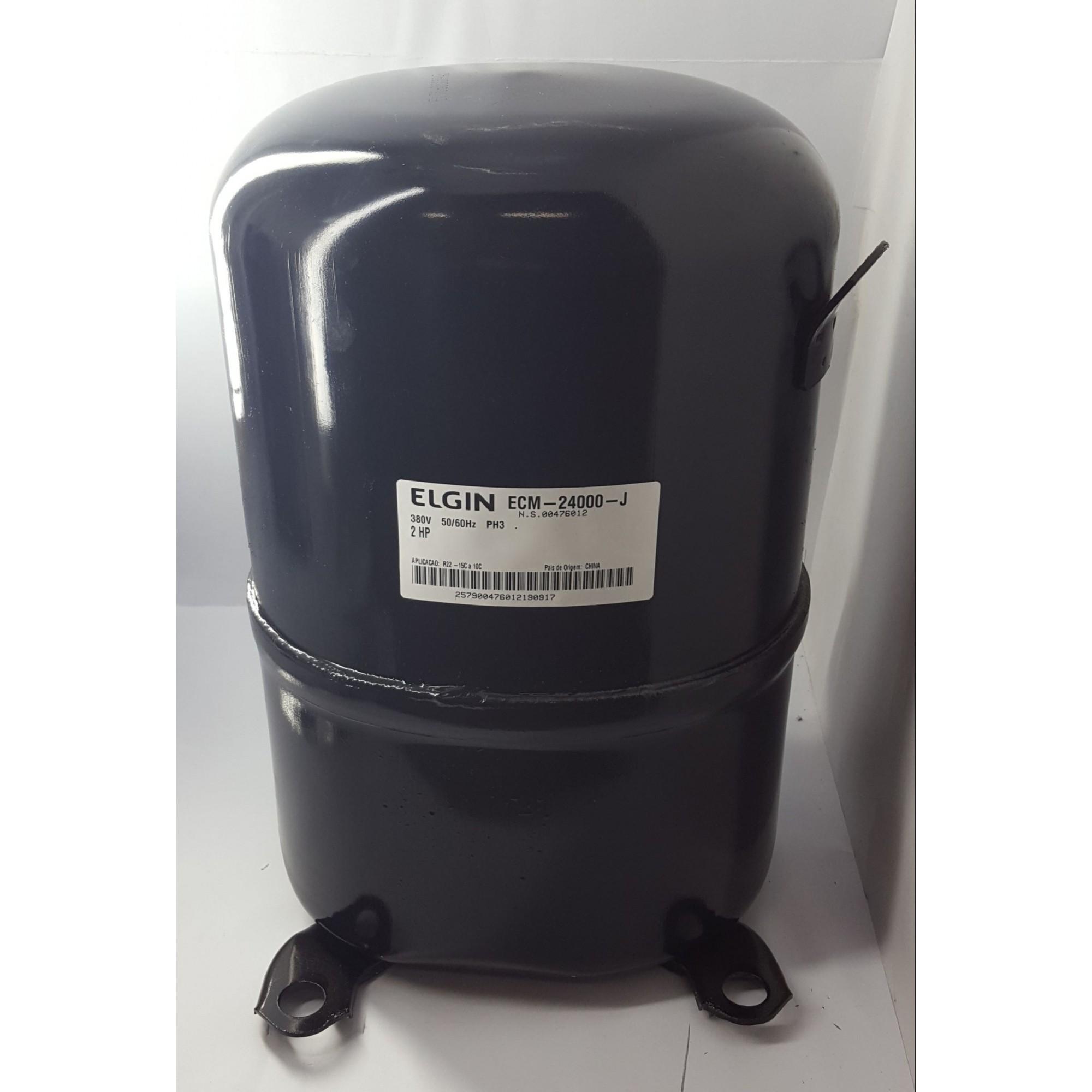 COMPRESSOR ELGIN 2 HP - ECM-24000-J - R22 (380v) - (FRETE GRÁTIS)