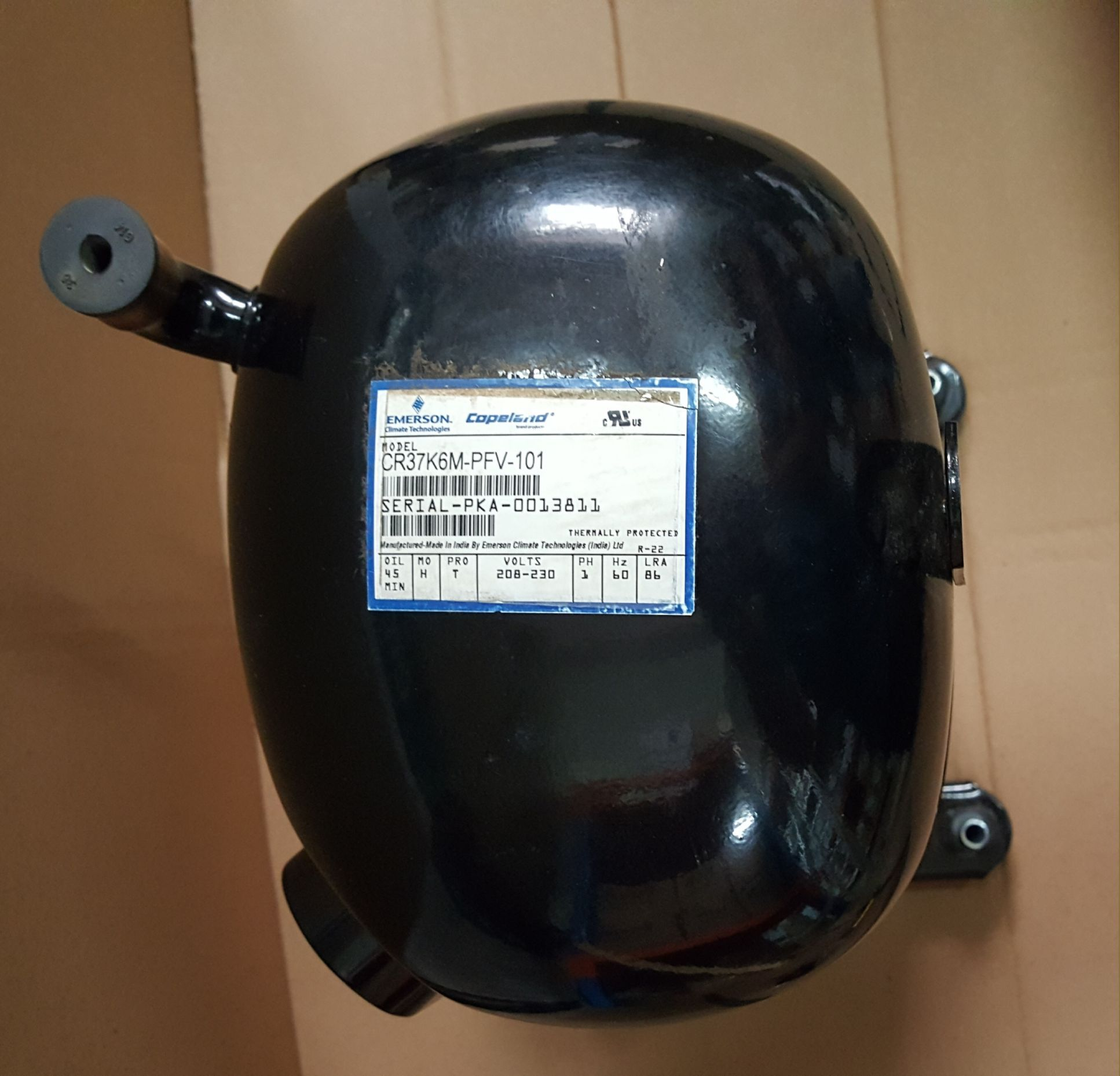 MOTOR COMPRESSOR ELGIN COPELAND 3 HP 220V 50/60HZ R22 - (FRETE GRÁTIS)