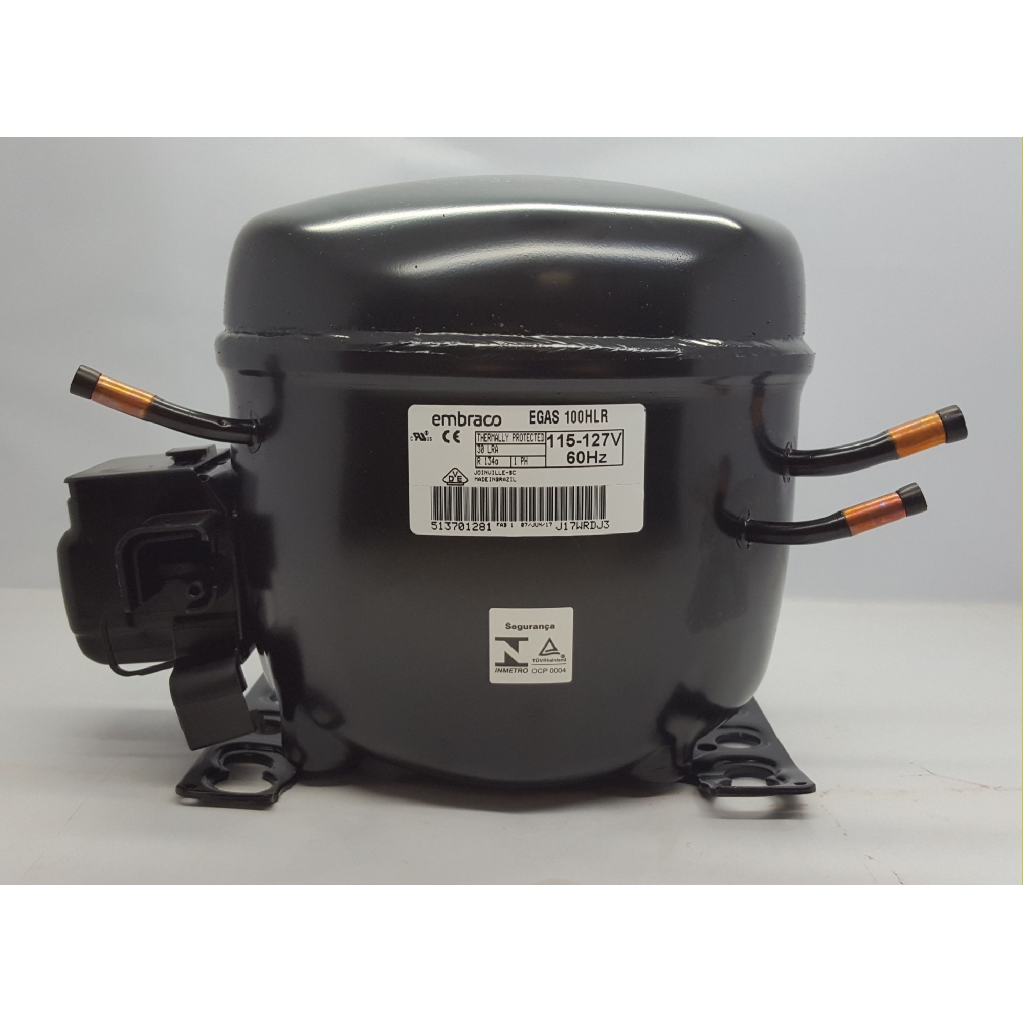 MOTOR PARA GELADEIRA E FREEZER - COMPRESSOR EMBRACO 1/3 HP - EGAS 100HLR - R134a (220v ou 110v)