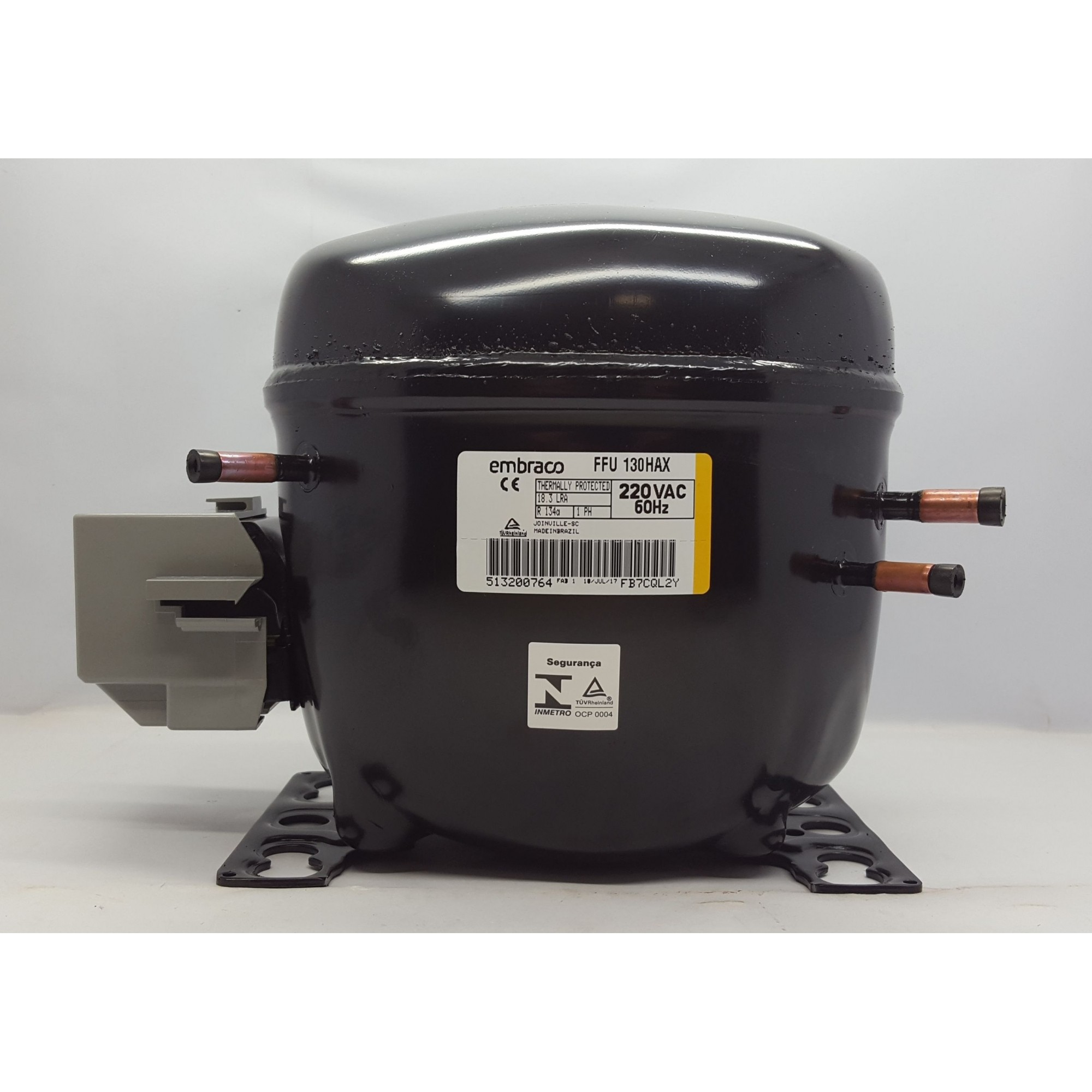 MOTOR PARA GELADEIRA E FREEZER - COMPRESSOR EMBRACO 1/3+ HP - (FFU 130HAX - 220V - R134A) / (FFU 130AX - 110V - Blends)