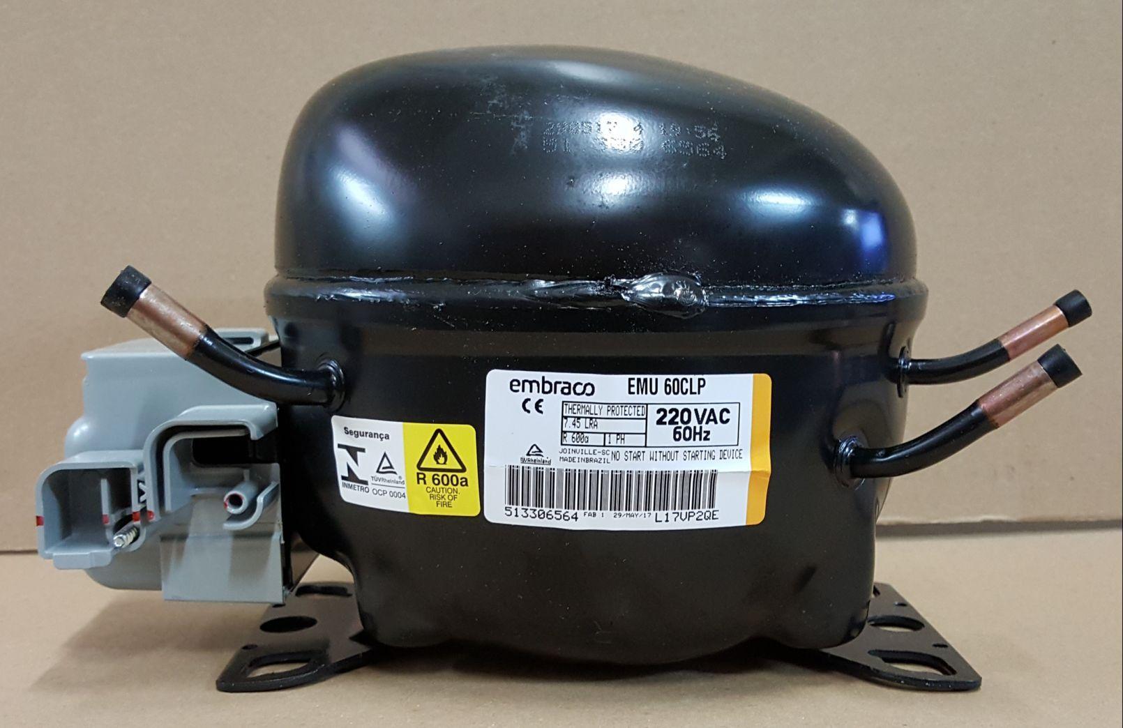 MOTOR PARA GELADEIRA E FREEZER - COMPRESSOR EMBRACO 1/6 HP - R600A (220v ou 110v)