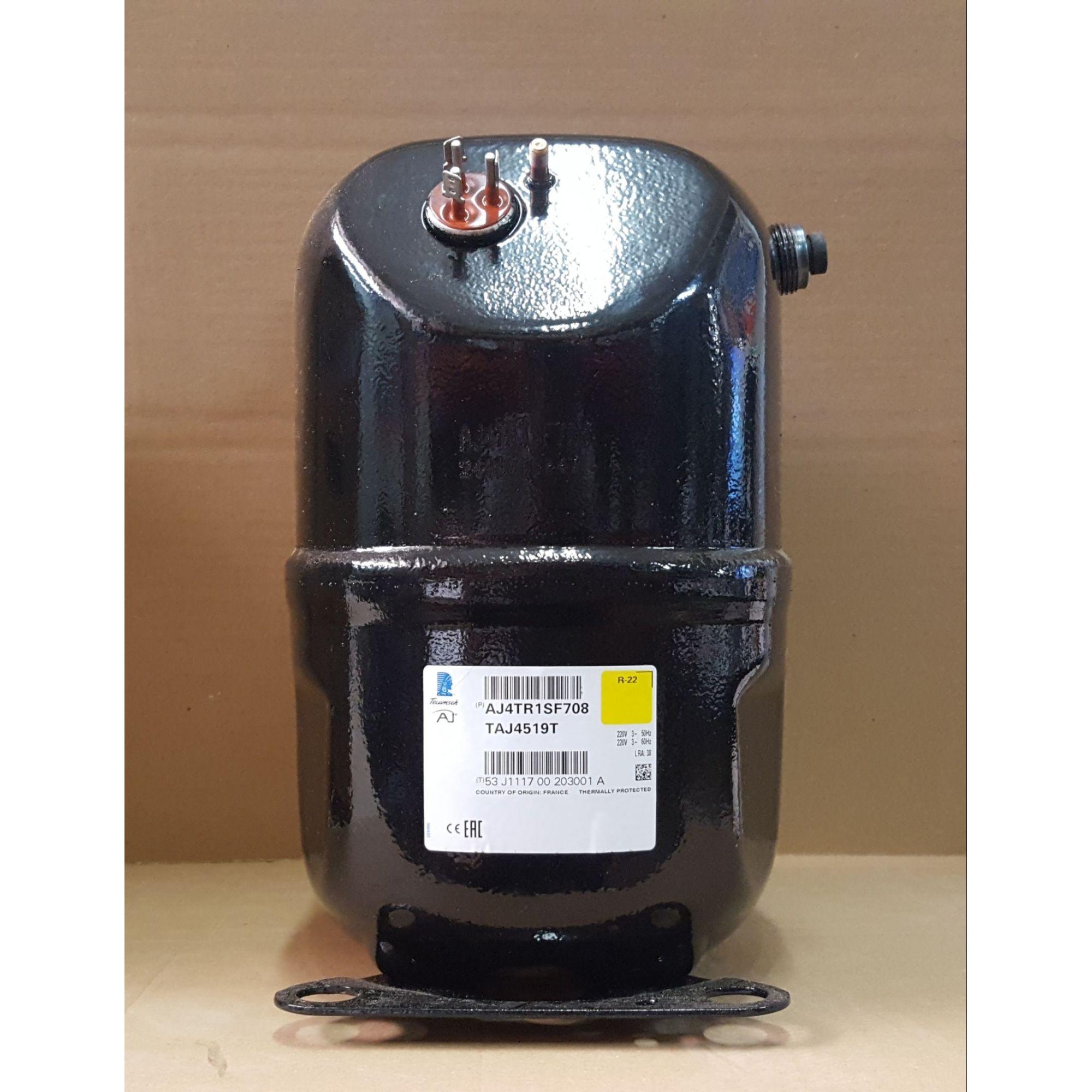 COMPRESSOR TECUMSEH COM ROSCA 1 1/2 HP - TAJ4519T - R-22 (220v - Trifásico) - (FRETE GRÁTIS)
