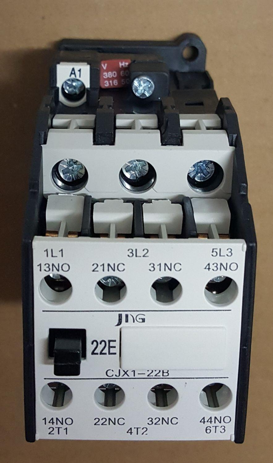 CONTATOR AUXILIAR CJX1-16B (16 AMPERES) 380V FAIXA AJUSTE 32A