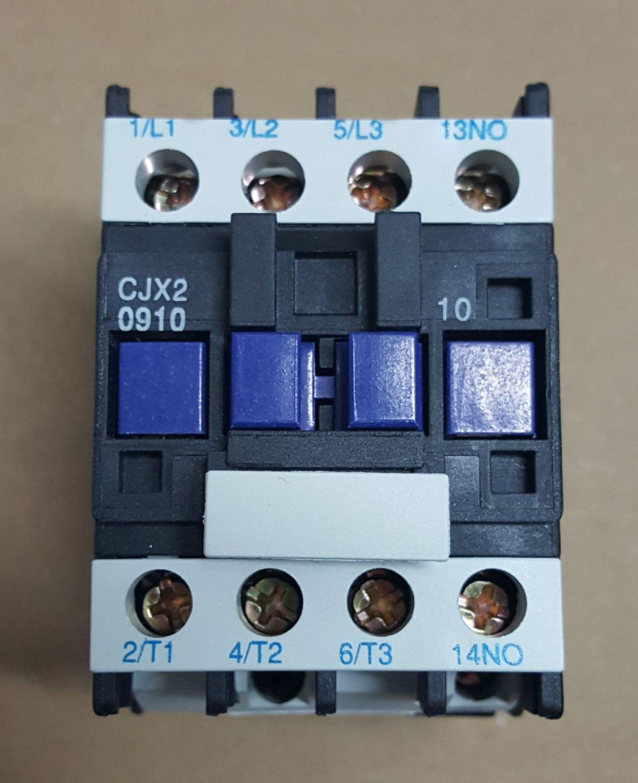 CONTATOR AUXILIAR CJX2-0910 (9 AMPERES) 220V FAIXA AJUSTE 20A