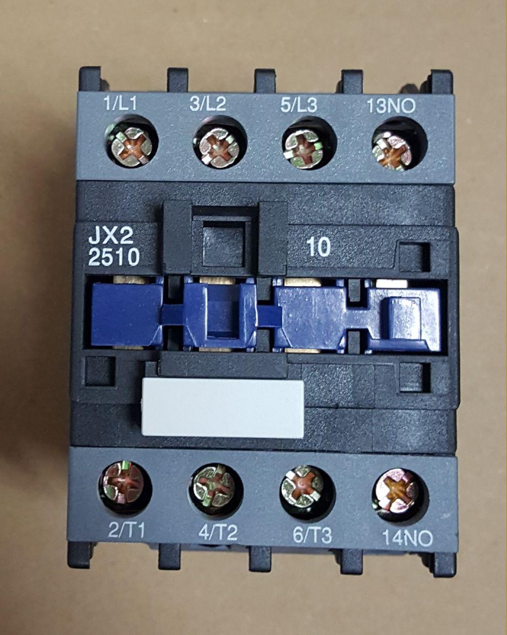 CONTATOR AUXILIAR CJX2-2510 (25 AMPERES) 220V FAIXA AJUSTE 35A