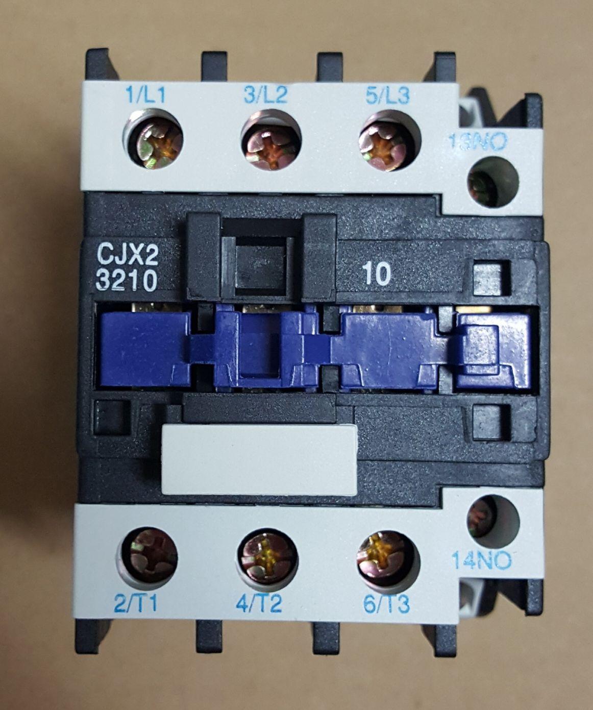 CONTATOR AUXILIAR CJX2-3210 (32 AMPERES) 220V FAIXA AJUSTE 50A