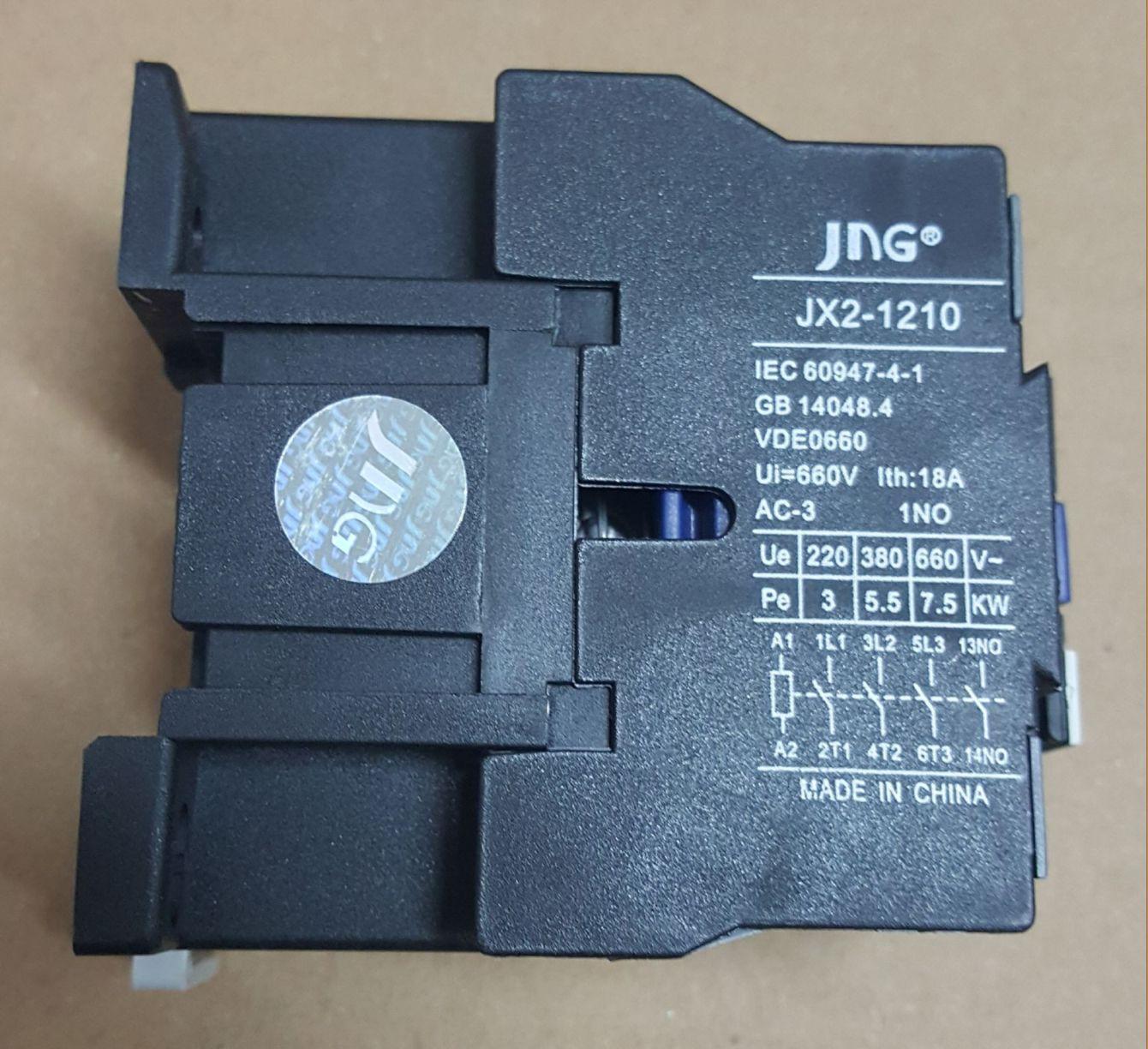 CONTATOR AUXILIAR JX2-1210 (12 AMPERES) 380V FAIXA AJUSTE 18A