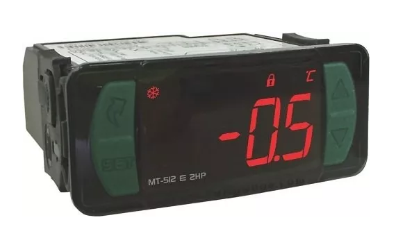 CONTROLADOR TEMPERATURA MT512E 2HP/13 (degelo natural) FULL GAUGE