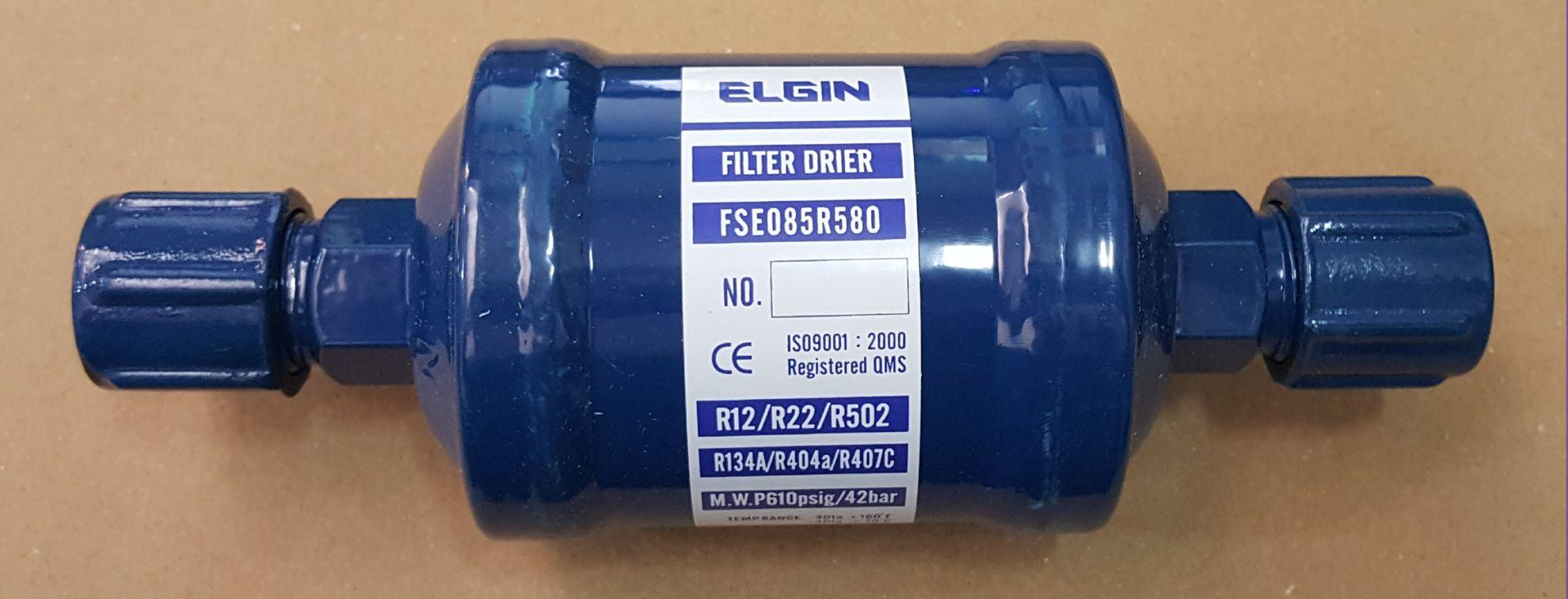 """FILTRO SECADOR ELGIN 5/8"""" 085 ROSCA 168mm FSE085R580"""