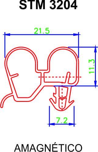 BORRACHA DE FREEZER METALFRIO DA420/BX40/DA170 - Medidas 61 x 65 cm - Encaixe na Tampa ** CONFIRA AS MEDIDAS **