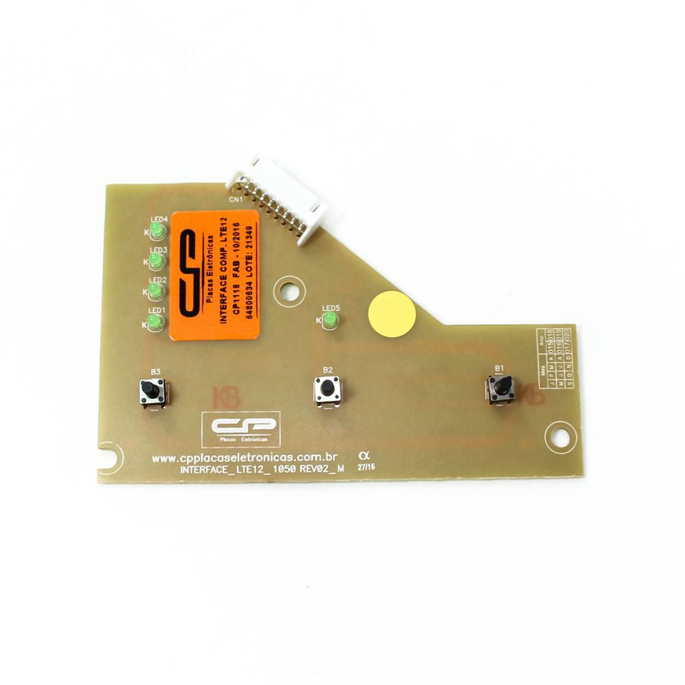 Interface Compatível Lavadora Electrolux LTE12