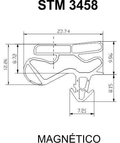 Jogo de Borracha de Geladeira - Continental 470 L - Medida: Inf. 1,15 x 68 cm - Sup. 56 x 68 cm - Encaixe ** CONFIRA AS MEDIDAS **