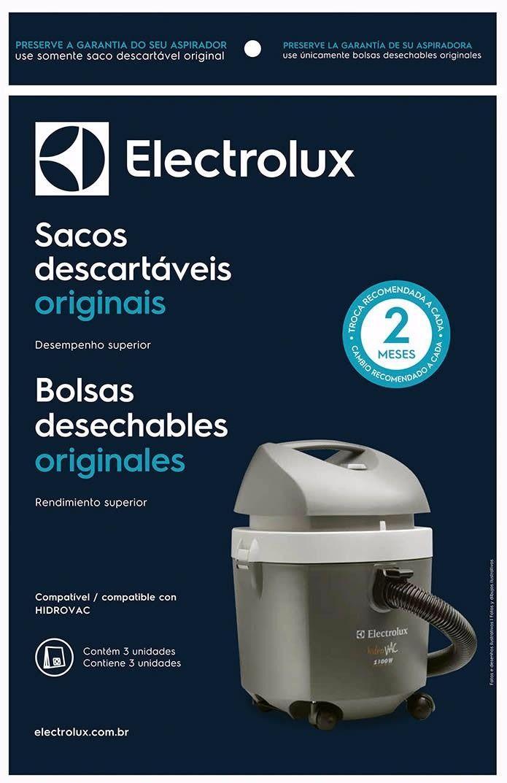 KIT COM 03 SACOS ASPIRADOR DE PÓ ELECTROLUX CSEHV - Modelo: HIDROVAC
