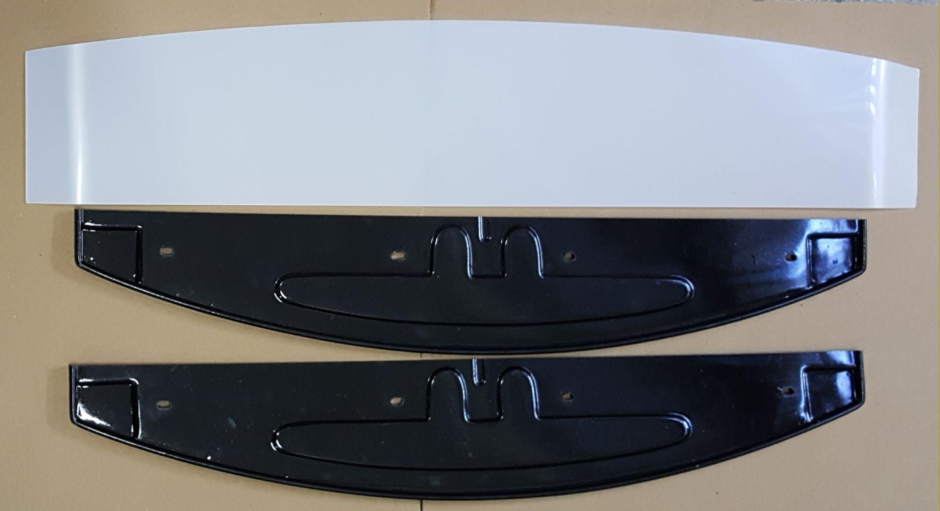 Kit conjunto Testeira e Rodapé Geladeira Expositora Vertical Metalfrio Preto 36X68cm