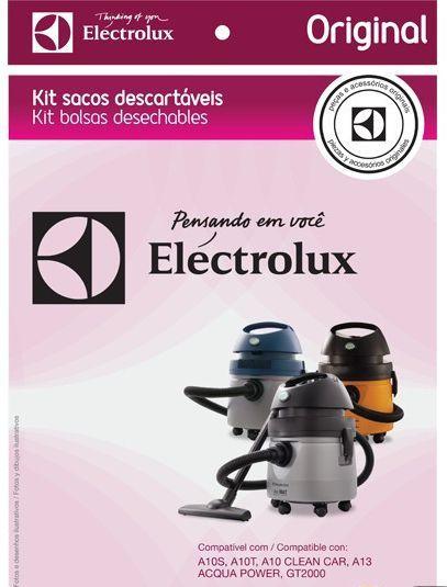 KIT COM 3 SACOS ASPIRADOR DE PÓ ELECTROLUX CSE09 - Modelos: A10S / A10T / A10 Clean Car / A13E / GT2000 (Produzidos Antes de 2010)