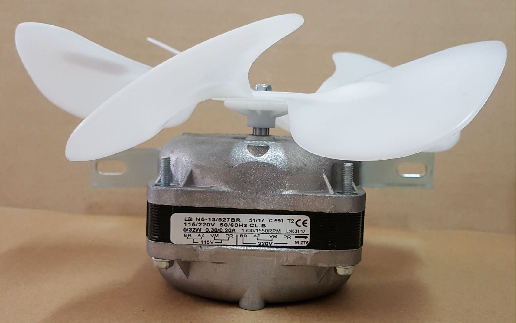 Micro Motor Elco Exaustor 1/40 Hp Bivolt Hélice Plástica
