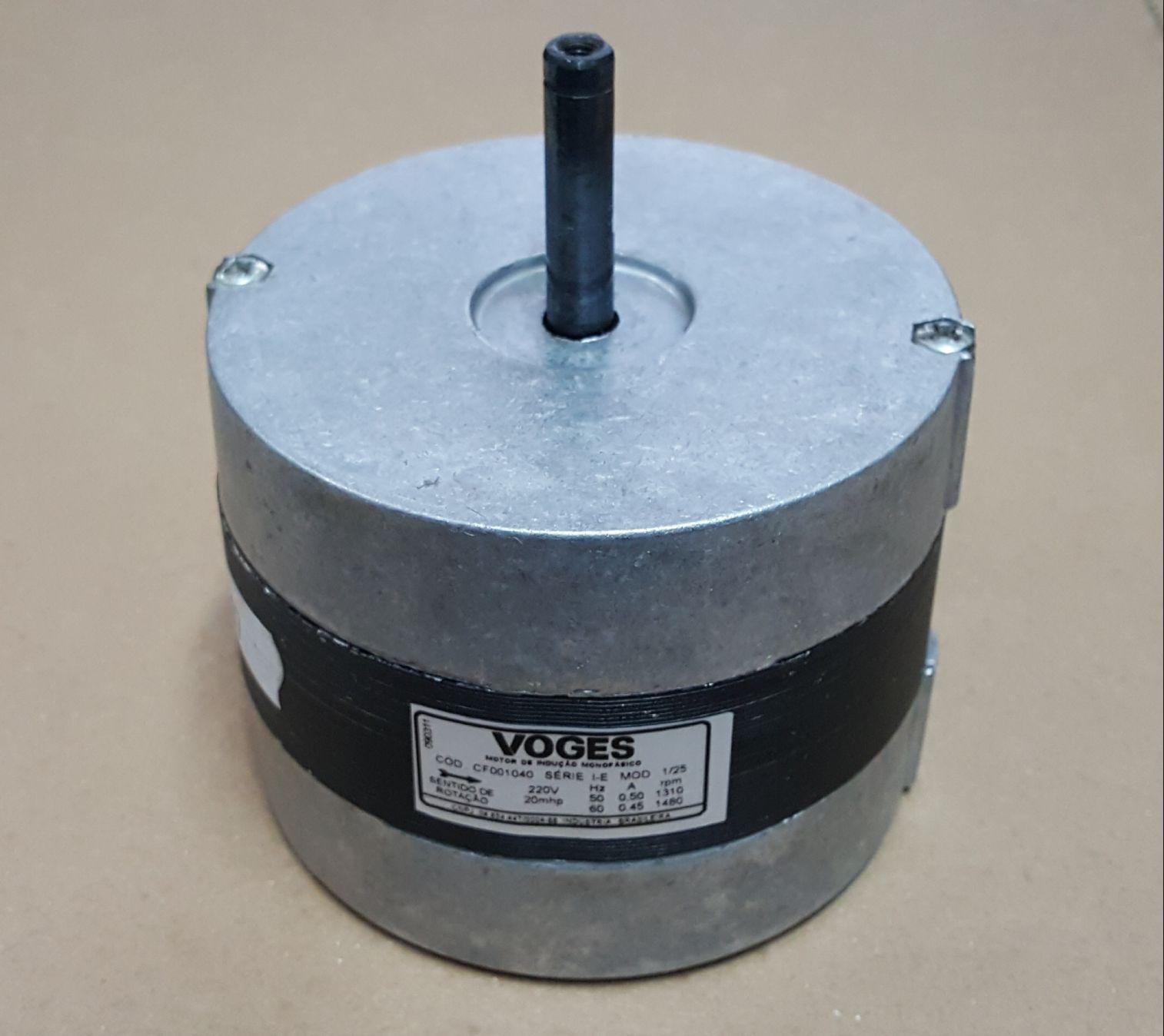 Micro Motor Monofásico 1/25 HP - Voges - 220v - (sem hélice)