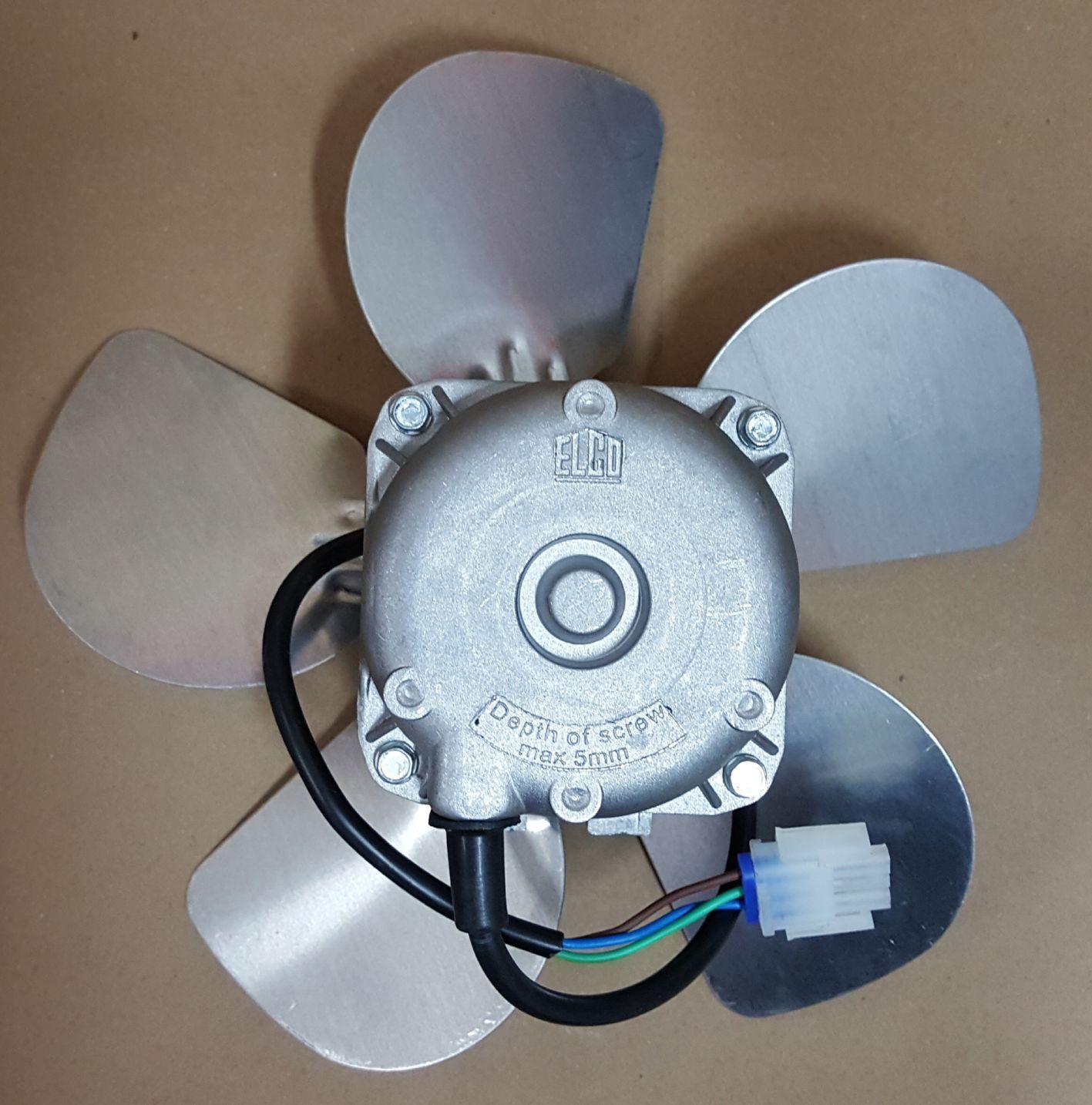 Micro Motor Soprador Elco 1/20 Hp 220v Hélice de Alumínio