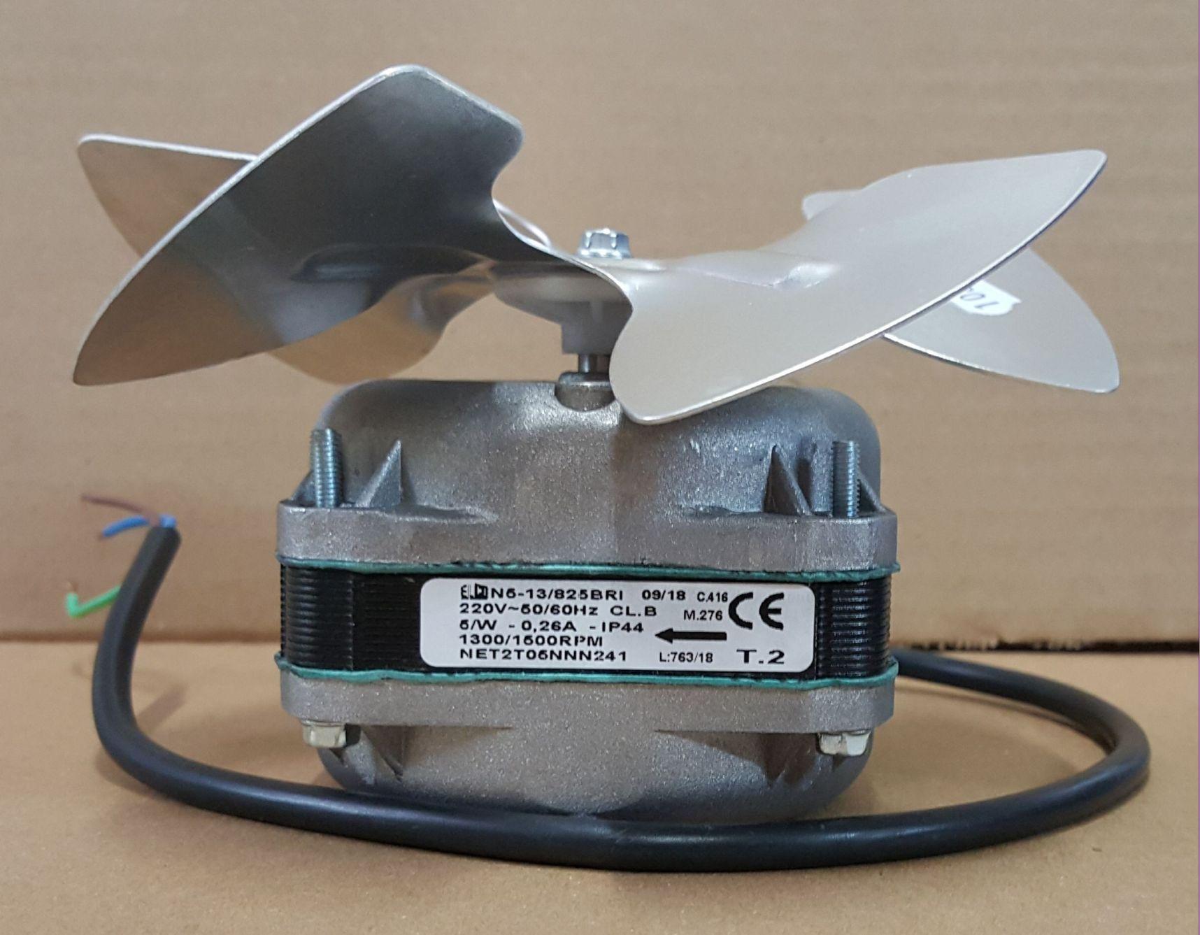 MICRO MOTOR VENTILADOR 1/40 ELCO N5-13/825 ROTAÇÃO INVERSA BLINDADO 220V