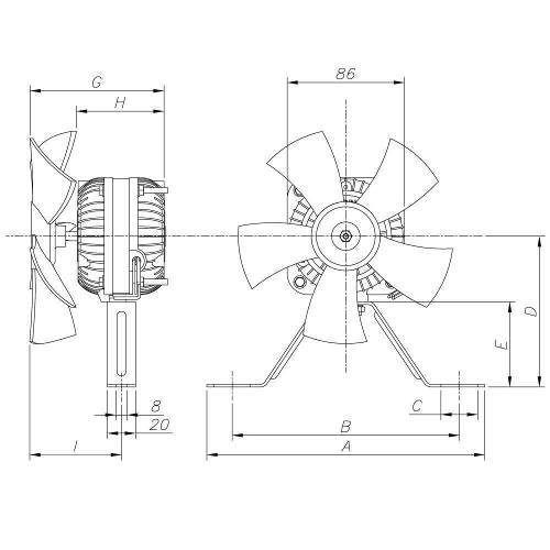 Micro Motor Ventilador Elgin 1/25 Hp Hélice Plástica para Freezer e Cervejeira - Bivolt