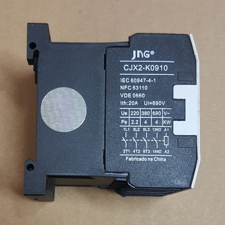 MINI CONTATOR AUXILIAR CJX2-K0910 (9 AMPERES) 220V FAIXA AJUSTE 20A