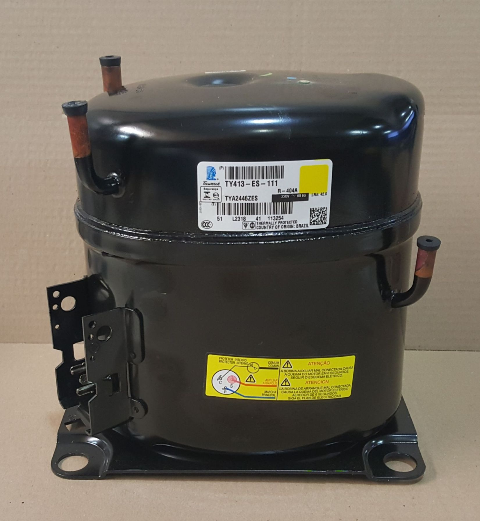 MOTOR COMPRESSOR TECUMSEH 1 1/2 HP - TYA2446ZES - R404 - 220v