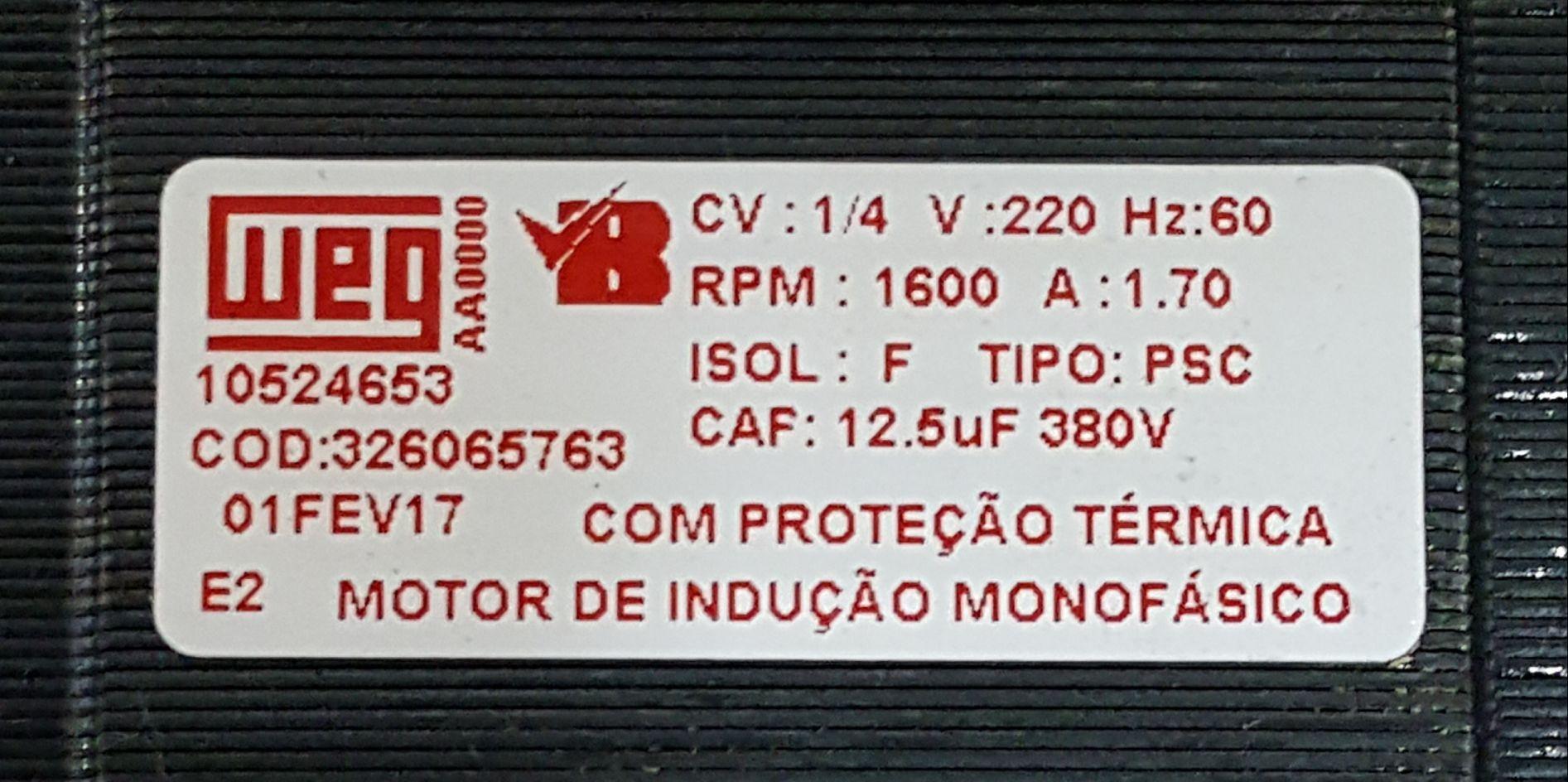 MOTOR PARA LAVADORA CONSUL CWI06AB / CWI07AB 220V KIT - CÓD: W10442116