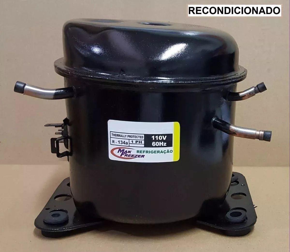 MOTOR PARA GELADEIRA E BEBEDOURO - Compressor 1/8 HP - Pw4.5 - R134a - Recondicionado