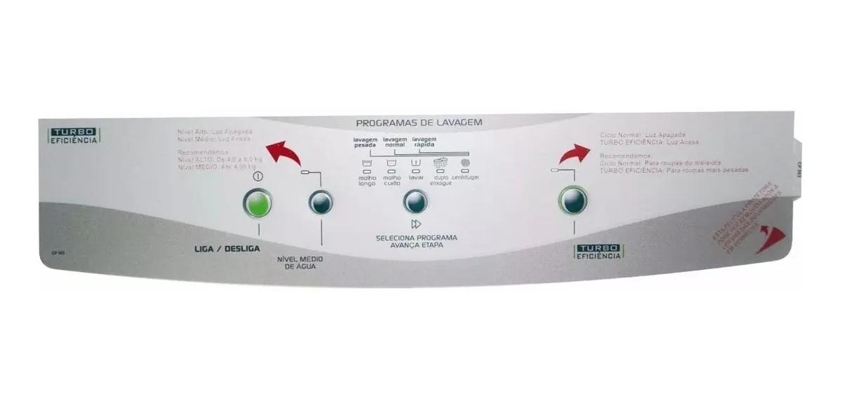 Painel Decorativo Compatível para Lavadora Brastemp - BWM08A Turbo - 8kg
