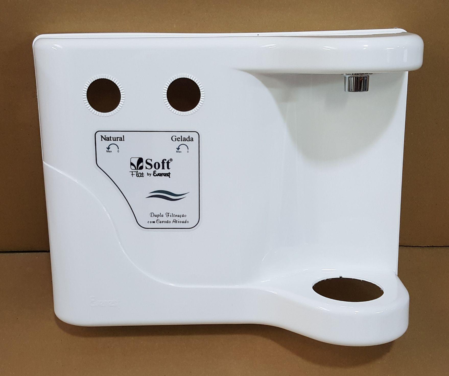 Painel Frontal Soft FLAT (Branco/Prata/Preto)
