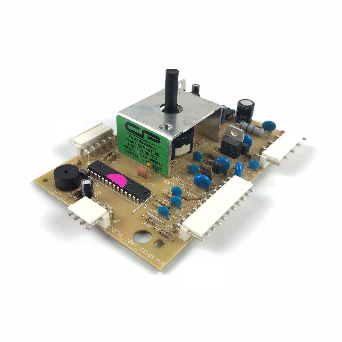 Placa Compatível Lavadora Electrolux LTE12 Versão 3 - Bivolt - CP 1459
