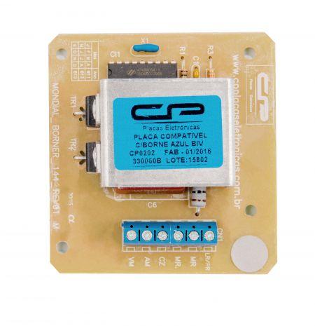 Placa Compatível Lavadora Mondial  330060b / 330061b com borner azul bivolt - CP 0202